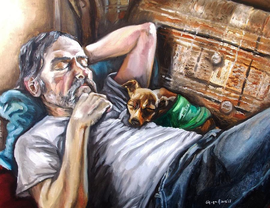 Dog Painting - Dog Days by Shana Rowe Jackson