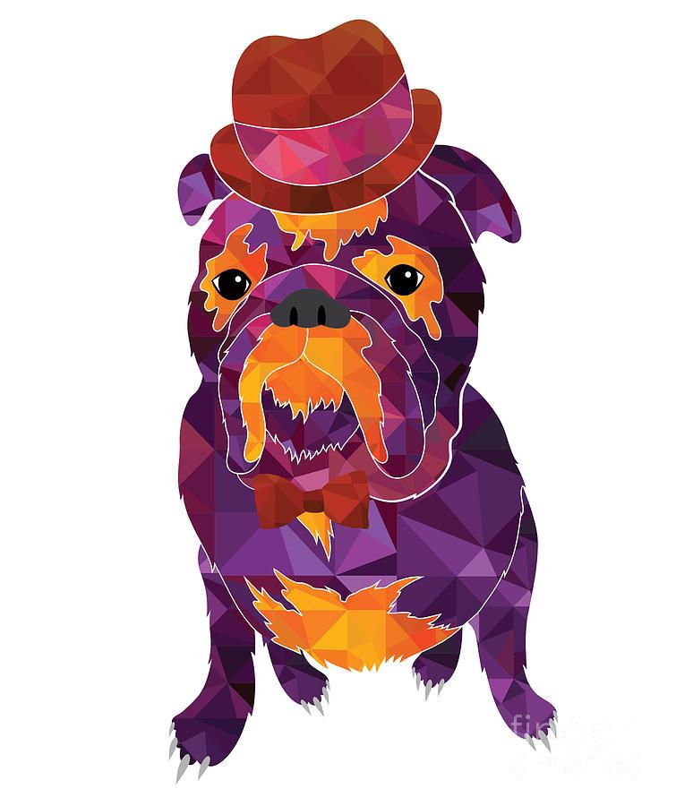 Pug Digital Art - Dog Gentleman by Lisa Kolbasa
