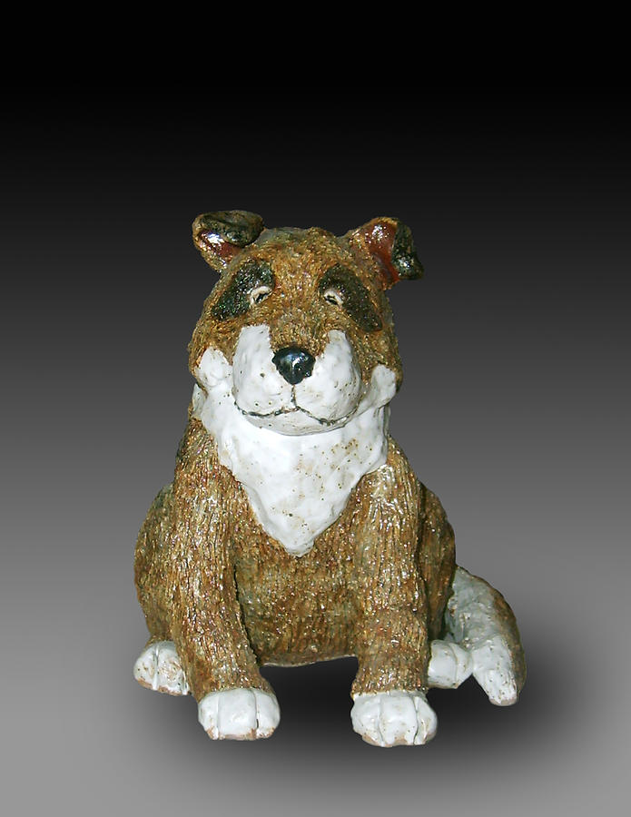 Clay Sculpture - Dog by Jeanette K