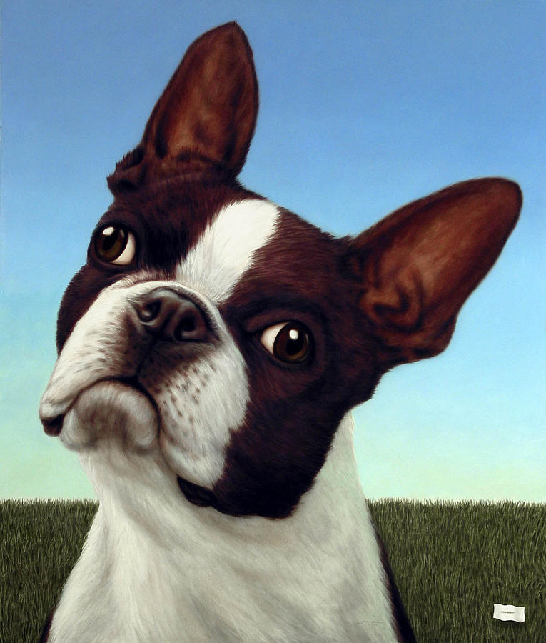 Dog Painting - Dog-nature 4 by James W Johnson