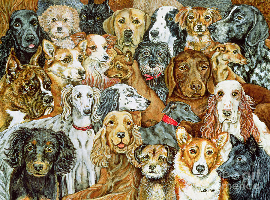 Dog Spread Painting - Dog Spread by Ditz