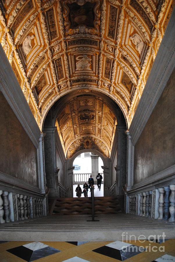 Venice Photograph - Doges Palace Entry by Jacqueline M Lewis