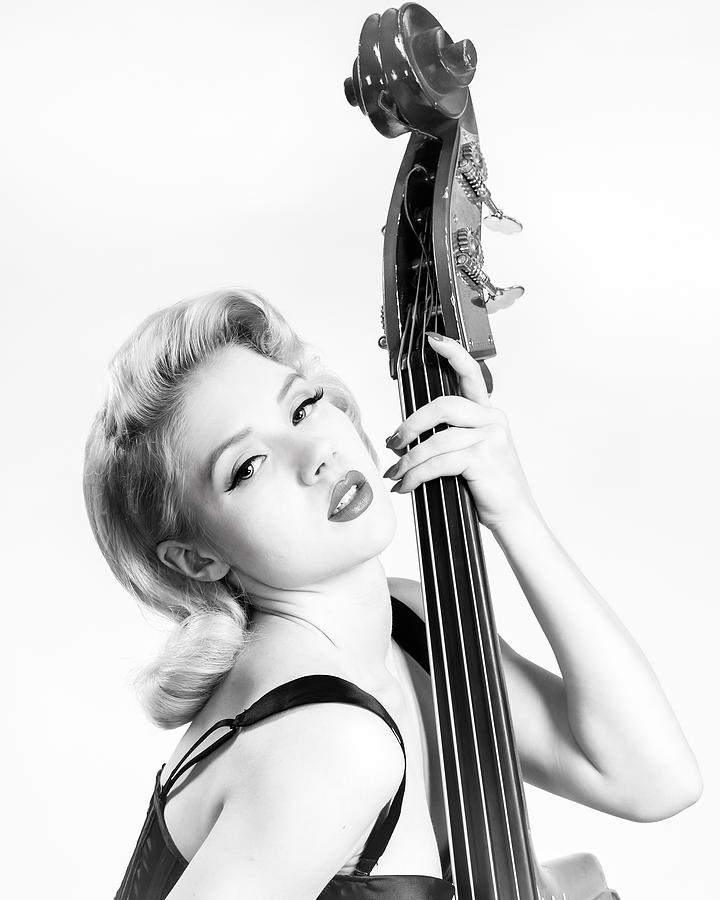Pinup Photograph - Doghouse Portrait Of Mosh - Double Bass by Gary Heller