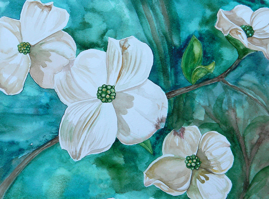 dogwood painting by judy bruning