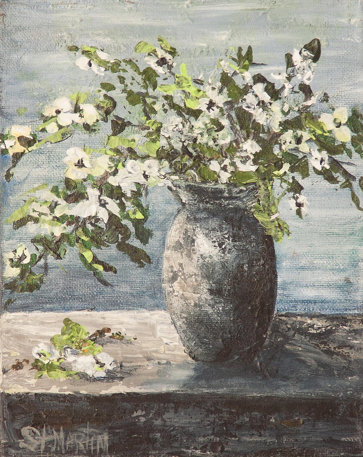 Dogwood Blossoms Painting - Dogwood Stems by Annie St Martin