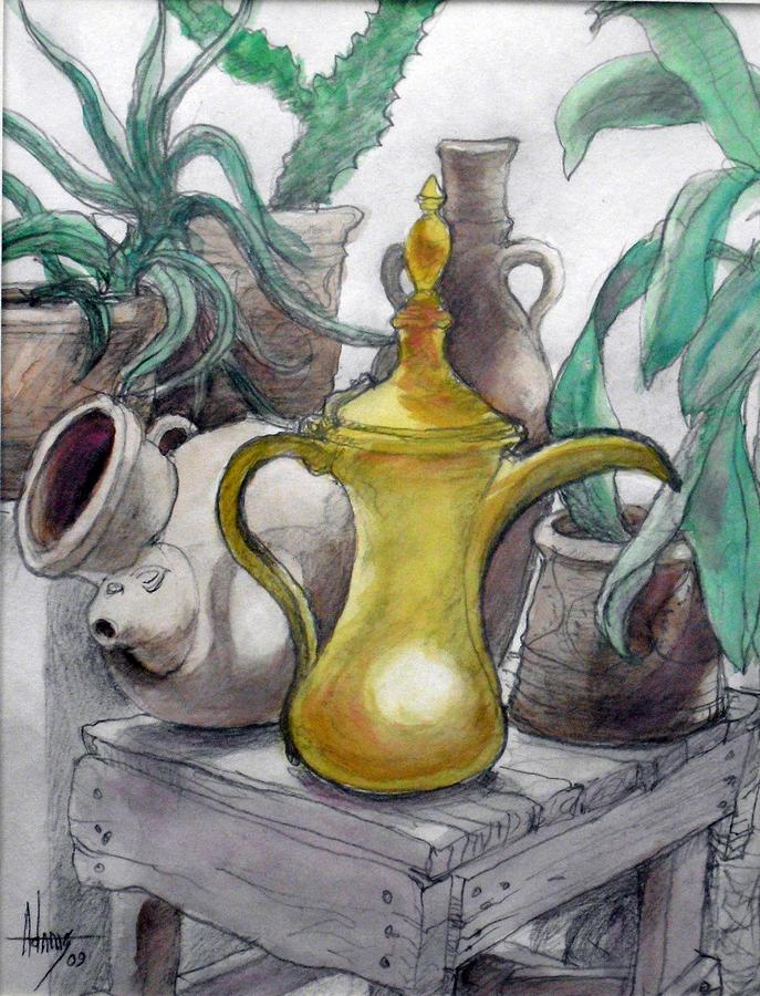 Urn Painting - Doha Coffee Urn by Jack Adams
