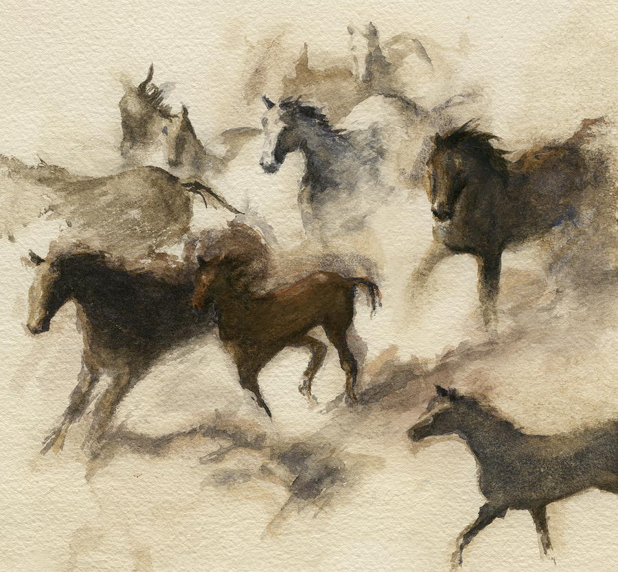 Wild Horses Painting - Dolce Vita by Alice Toler