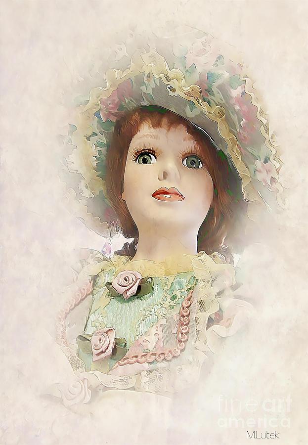 Miss. Doll Painting - Doll 624-12-13 Marucii by Marek Lutek