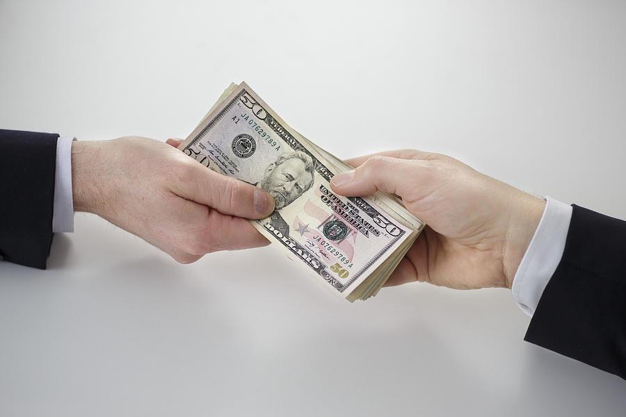 Dollar Bills Photograph by Thomas Trutschel