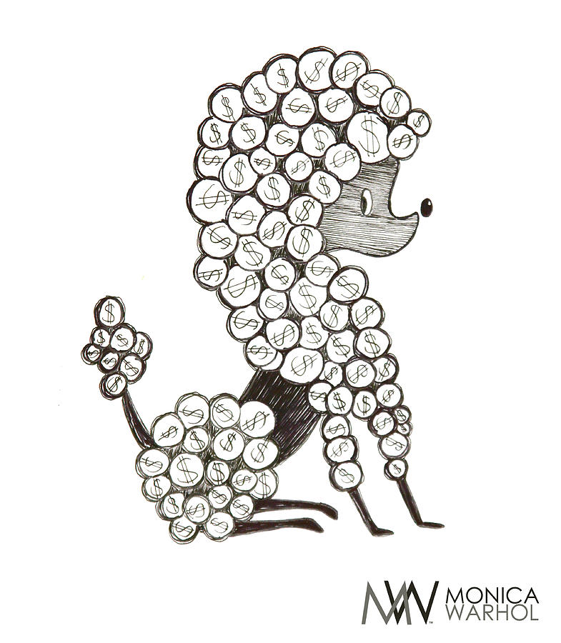 Monica Warhol Painting - Dollar Dog by Monica Warhol