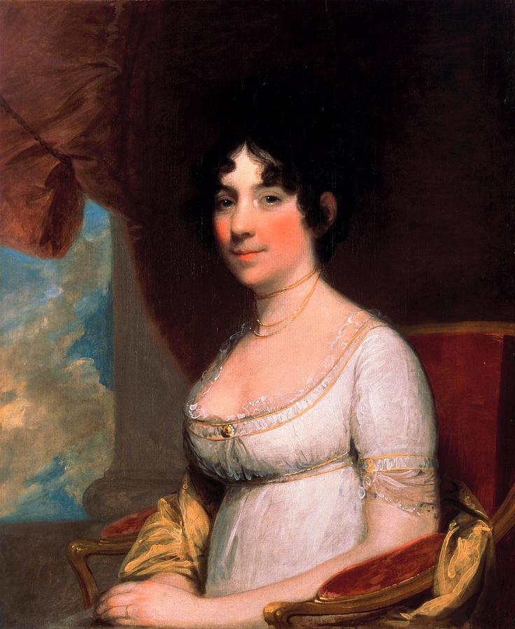 Gilbert Stuart Painting - Dolley Payne Madison by Gilbert Stuart