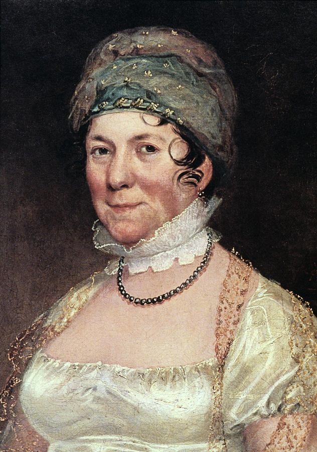 19th Century Painting - Dolley Payne Todd Madison (1768-1849) by Granger