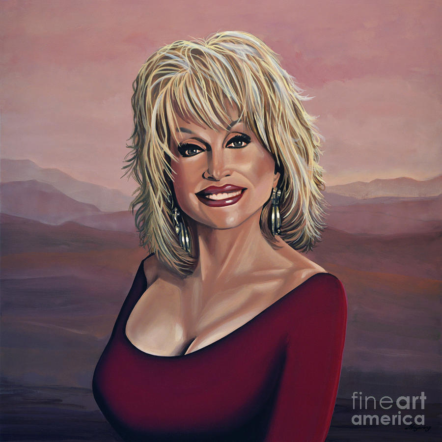 Dolly Parton Painting - Dolly Parton 2 by Paul Meijering