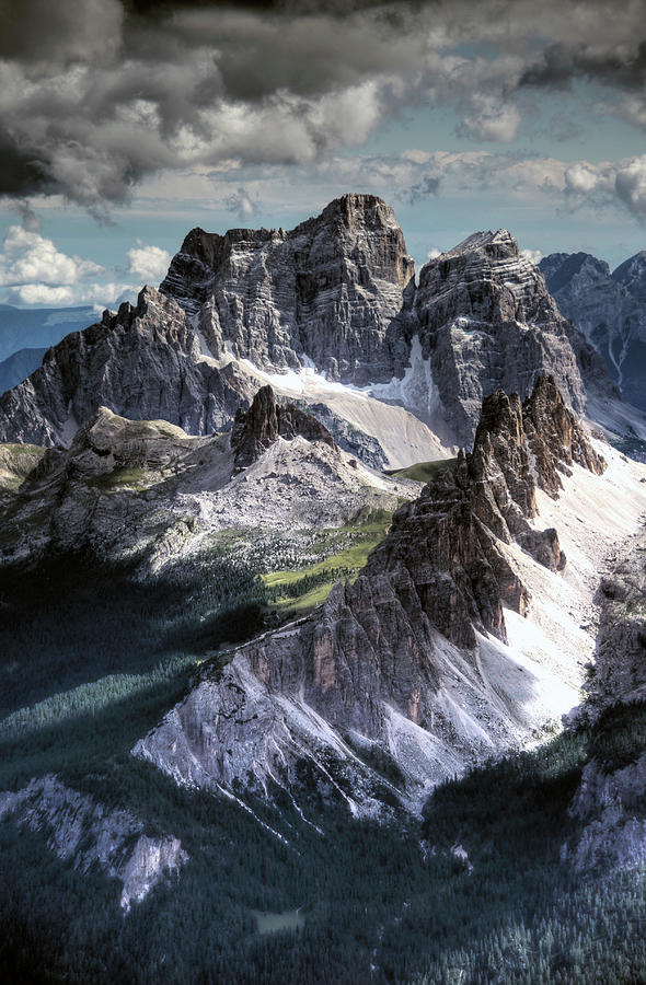 Dolomites Peaks View From Lagazuoi Photograph by Mariusz Kluzniak