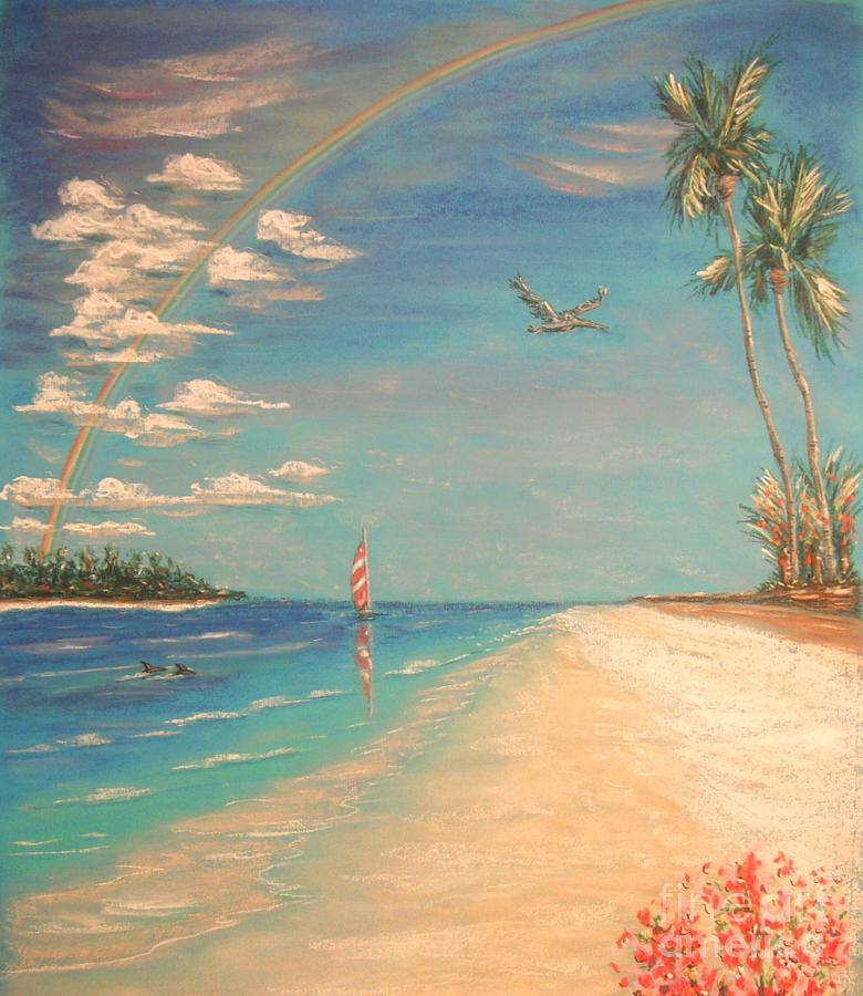 Tropical Painting - Dolphin Bay by The Beach  Dreamer