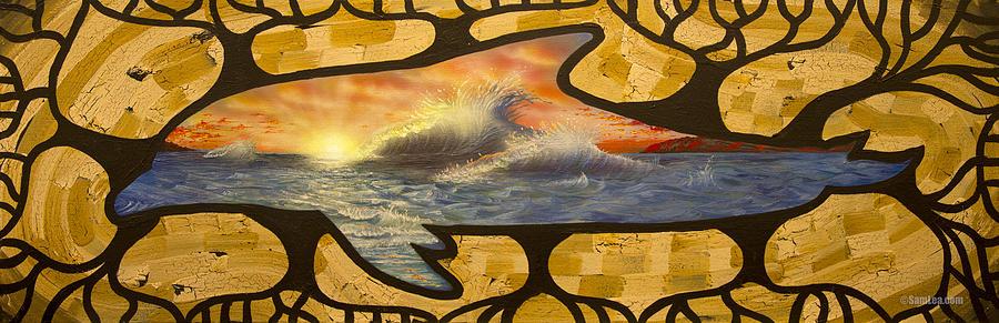 Dolphin Painting - Dolphin Dream I by Sam Lea