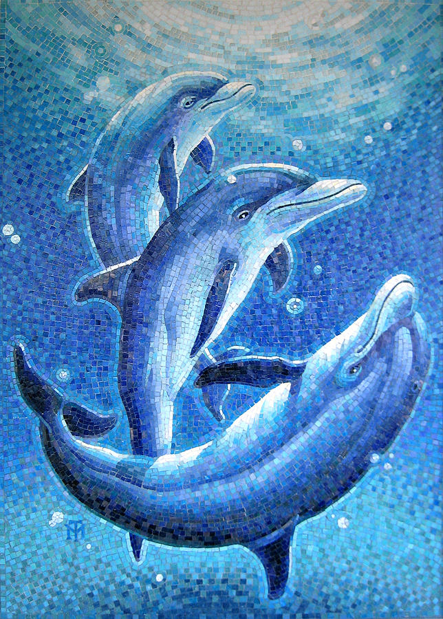 Dolphin Trio Painting