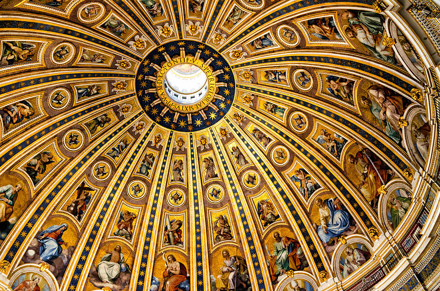 Dome Of St Peter's Basilica Vatican City Italy Photograph