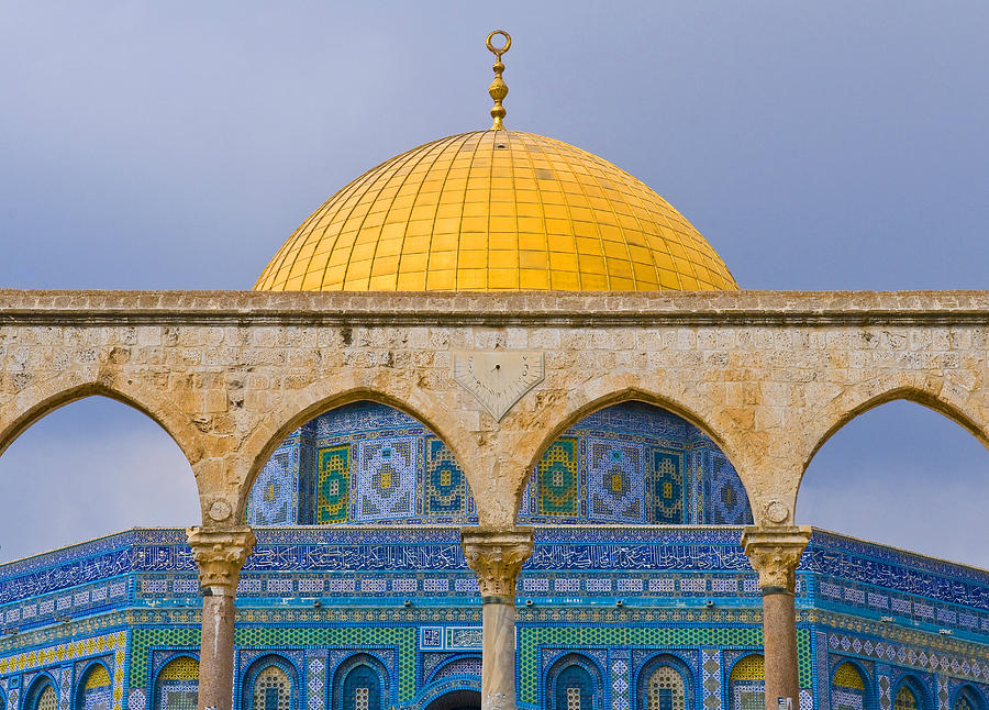 Ancient Photograph - Dome Of The Rock by Kobby Dagan