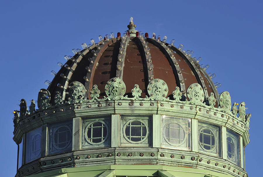 Asbury Park Photograph - Dome Top Of Carousel House Asbury Park Nj by Terry DeLuco