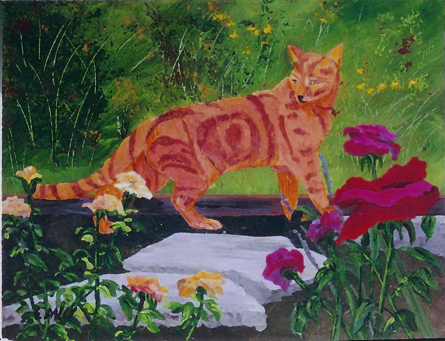 Animals Painting - Domestic Tiger by Gail Daley