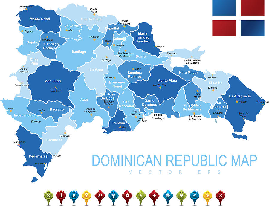 Dominican Republic Map by Stock_art