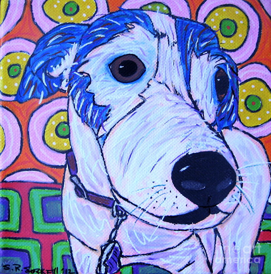 Dog Painting - Domino Dog by Susan Sorrell