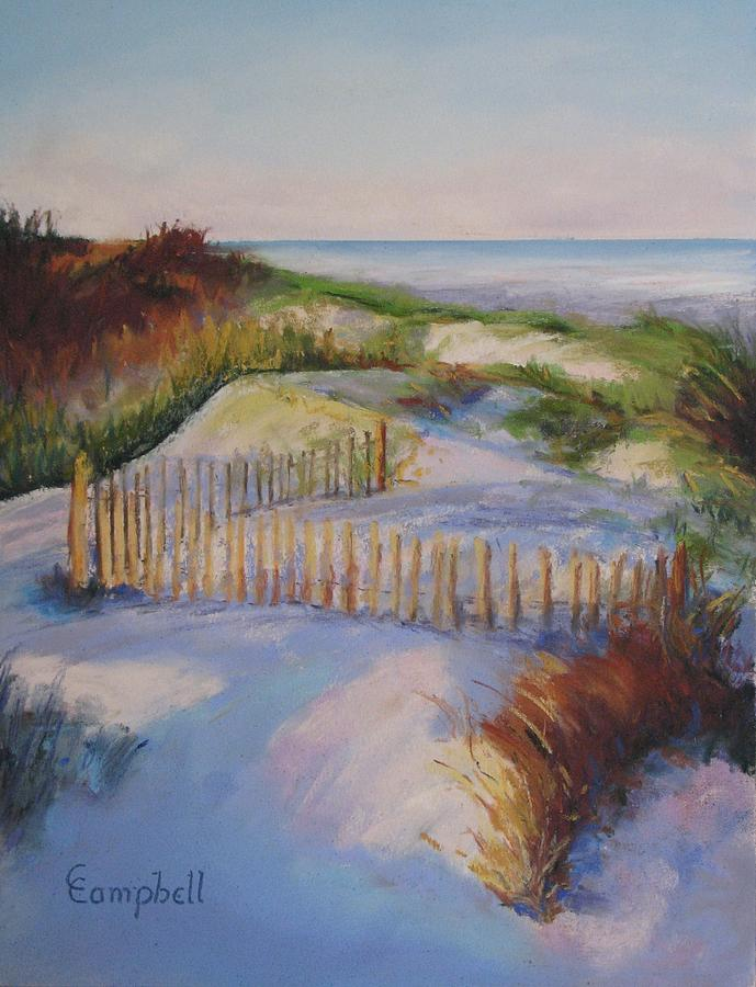Beach Painting - Don Fence Me In by Cecelia Campbell