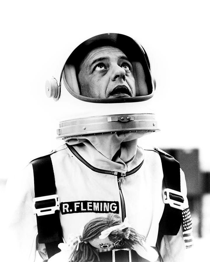 The Reluctant Astronaut Photograph - Don Knotts In The Reluctant Astronaut  by Silver Screen
