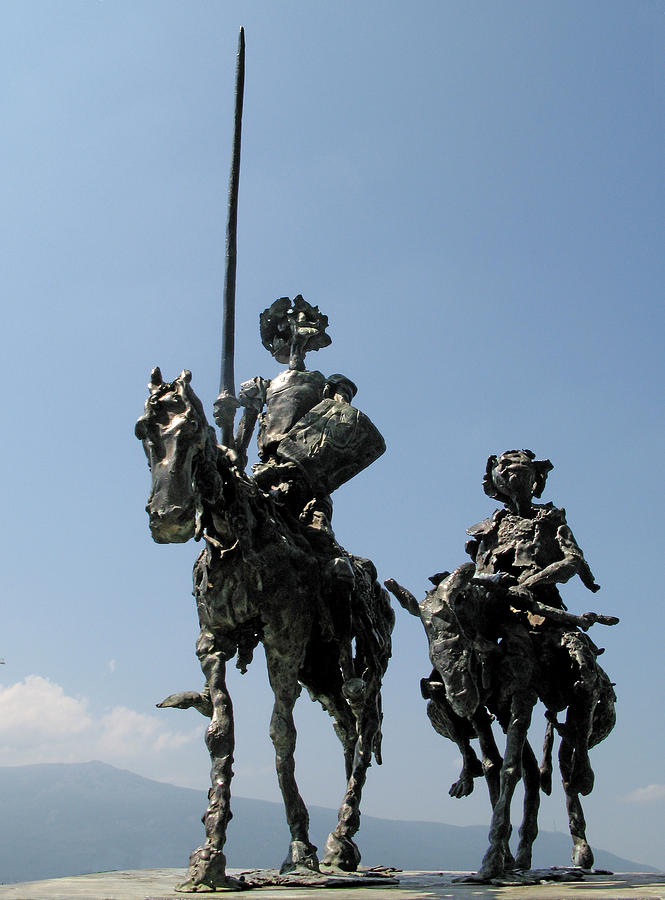 Don Quixote And Sancho Panza Sculpture by Spartak Dermendjiev