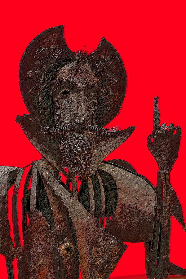 Don Quijote De La Mancha Mixed Media - Don Quixote by Jesus Nicolas Castanon