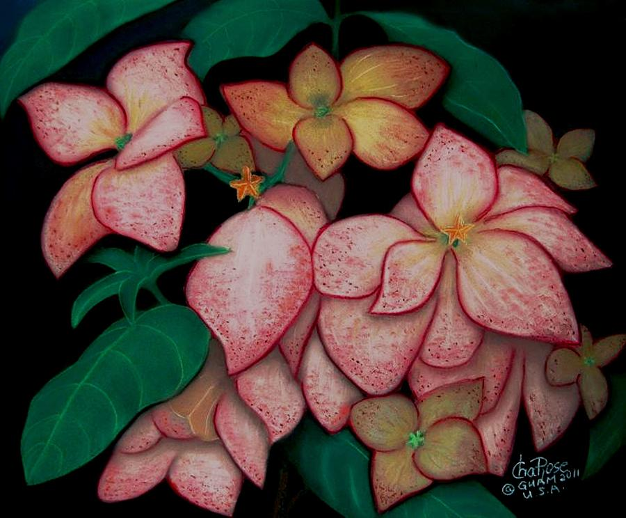 Flowers Framed Prints Pastel - Dona Aurora2 by Charito ChatRose Mahilum