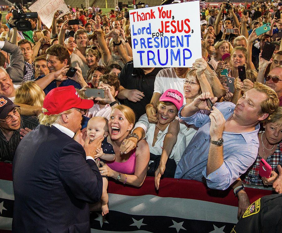 Donald Trump Holds Campaign Rally In Photograph by Mark Wallheiser
