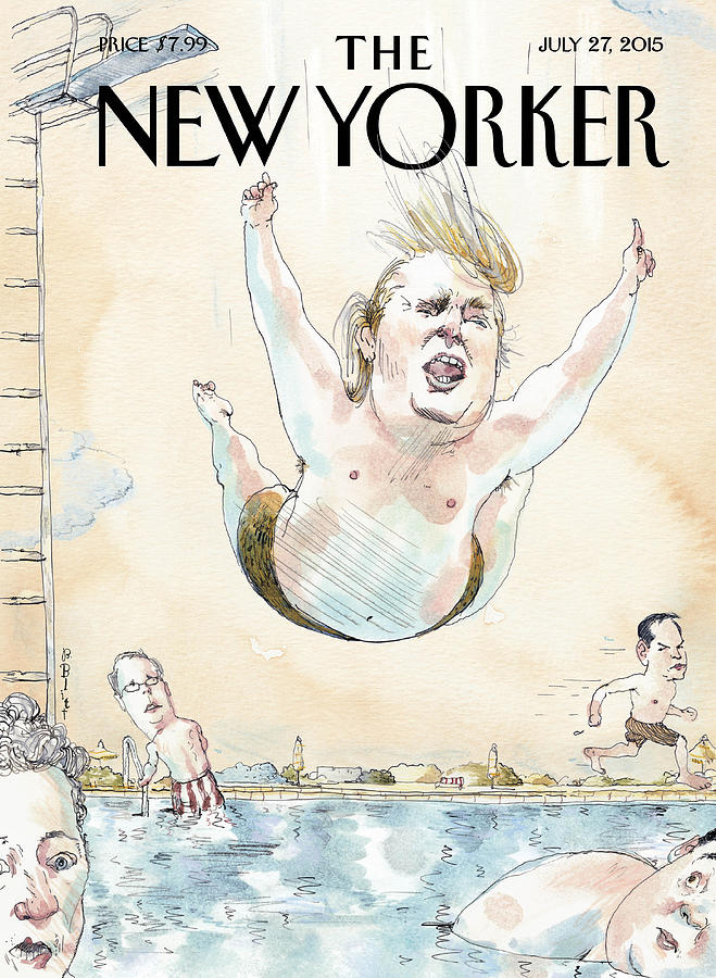 Belly Flop Painting by Barry Blitt