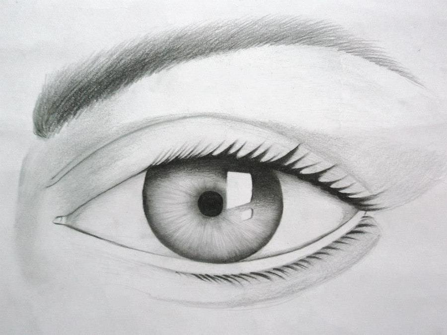 Donate Eyes Drawing - Donate Your Eyes by Tanmay Singh