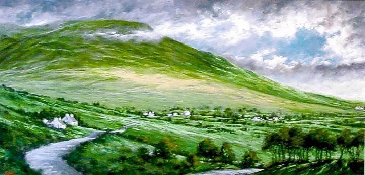 Irish Painting - Donegal Hills by Jim Gola