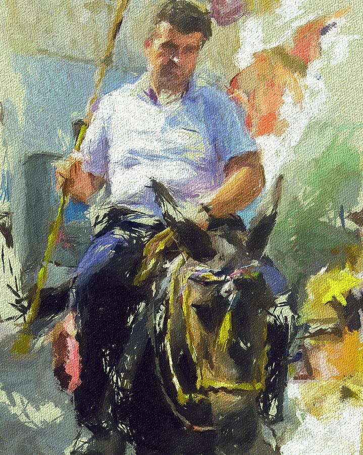 Donkey Digital Art - Donkey Ride by Yury Malkov
