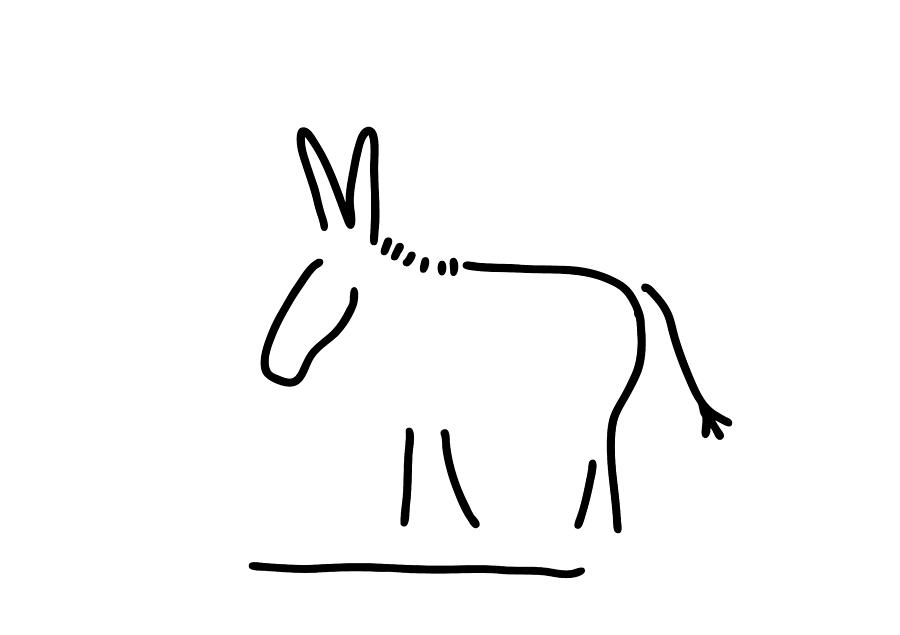 Donkey Stubbornness Drawing