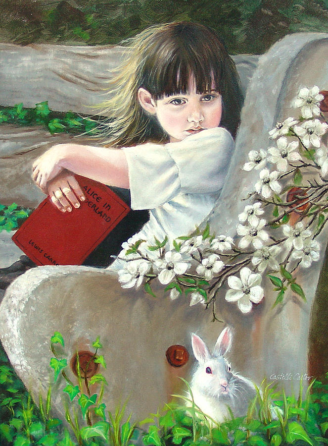 Alice In Wonderland Painting - Donna Renee Mc Cann As Alice by JoAnne Castelli-Castor
