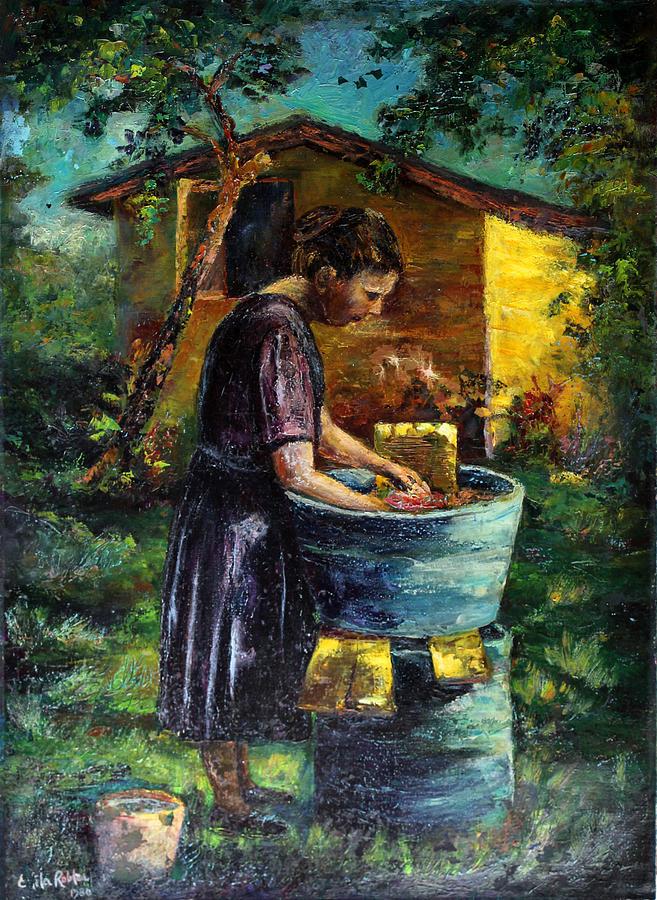 Donna Yaya Painting By Estela Robles Galiano