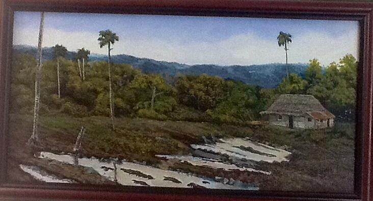 Palm Trees Painting - Dont Feel Like It   Cuban Landscape by Carlos Rodriguez Yorde