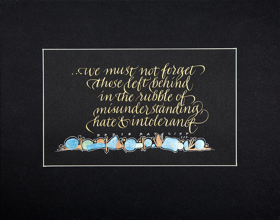 Calligraphy Mixed Media - Dont Forget... by Sally Penley