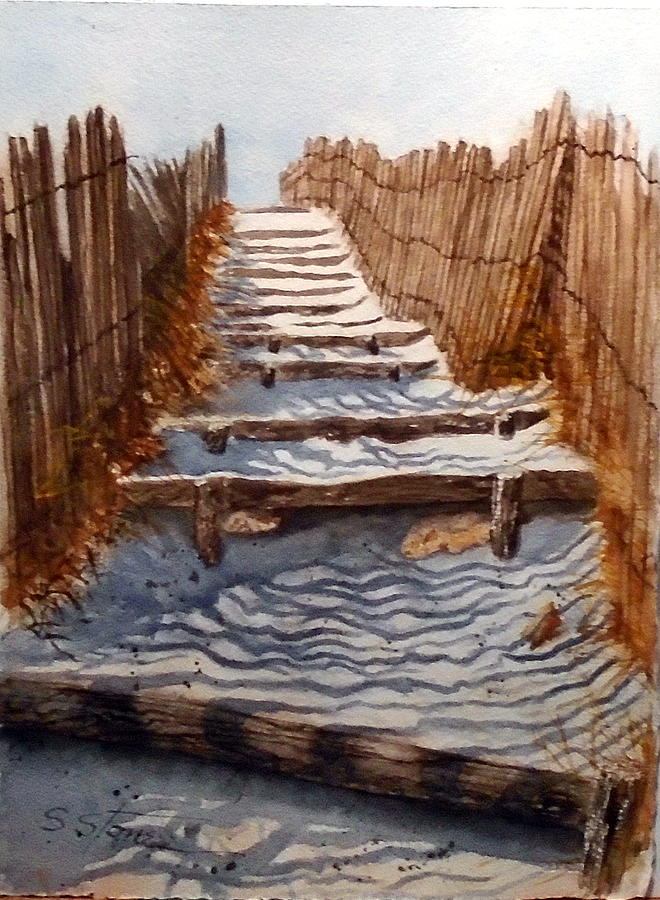 Watercolor Painting - Dont Forget Sunscreen by Sandra Stone