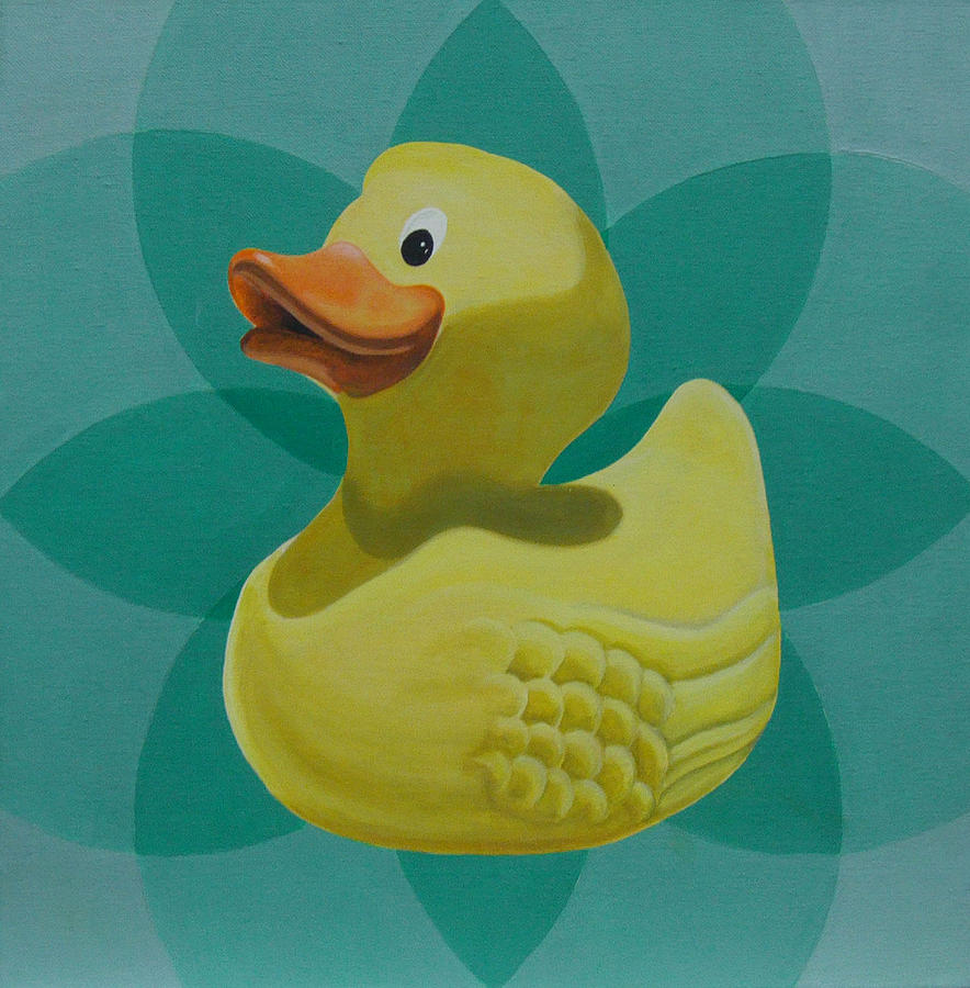 Don\'t Give A Rubber Duck Painting by Gary Hogben