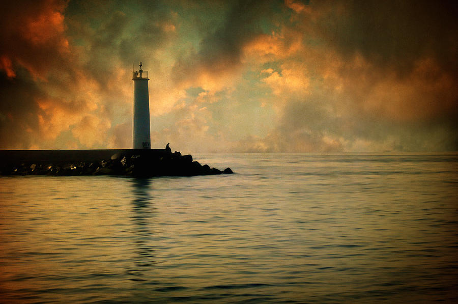 Lighthouse Photograph - Dont Leave Me Now by Zapista Zapista