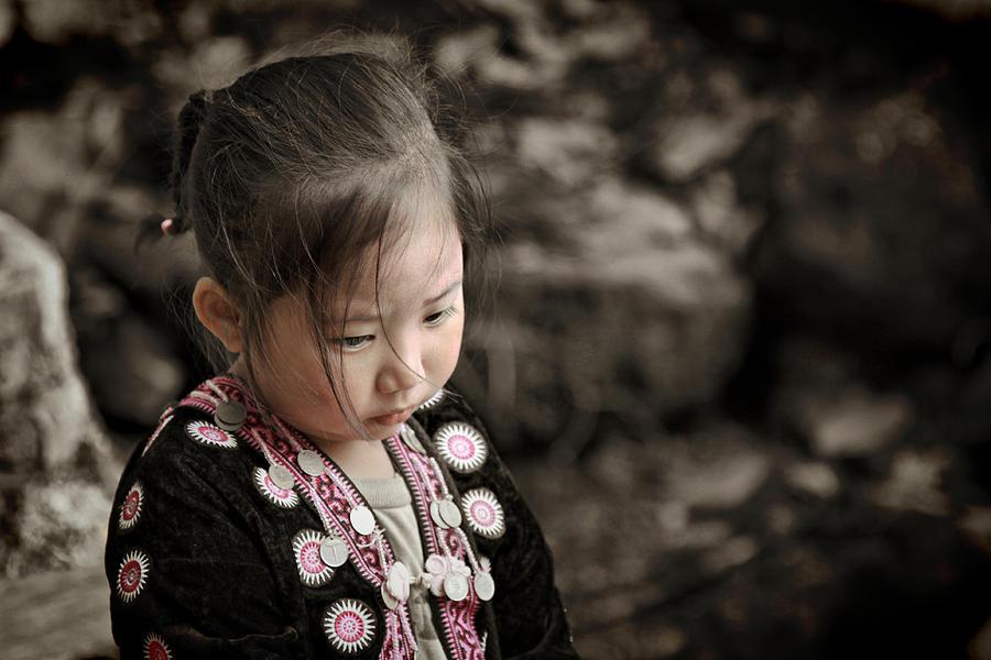 Hmong Photograph - Dont Look Me Like Doll by Suradej Chuephanich