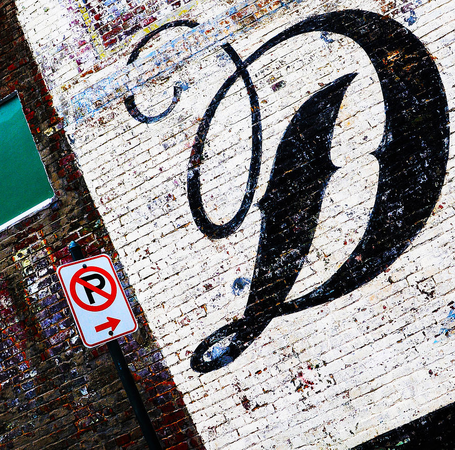 Brick Walls Photograph - Dont Park by Leon Hollins III