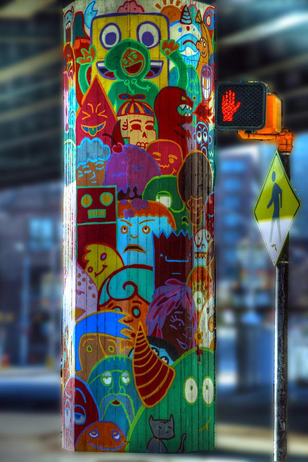 Street Art Photograph - Dont Walk by David Simons