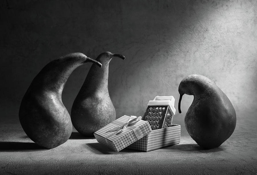 Pears Photograph - Dont You Like Our Present?! by Victoria Ivanova