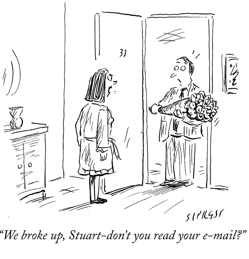 Technology Drawing - Dont You Read Your Email by David Sipress